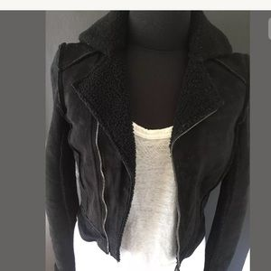 L'AGENCE Blk sheeting xs Leather jacket❤️